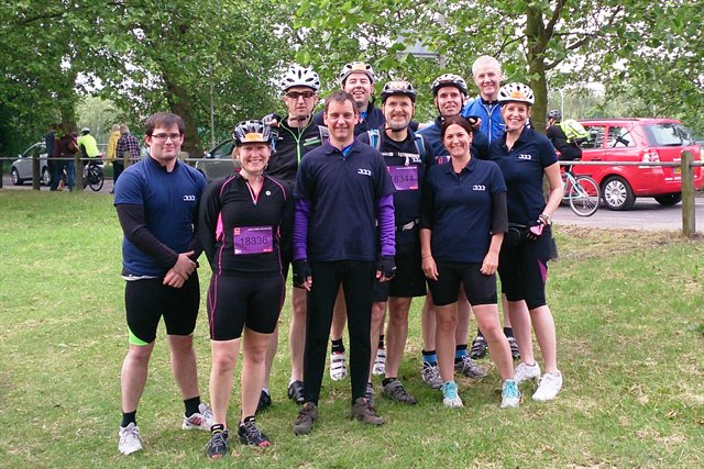 David organised a team from the Technology & Communications division to take part in the British Heart Foundation's London to Brighton bike ride in 2013.