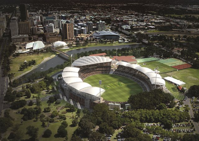 aerial view of Adelaide Cricket Ground