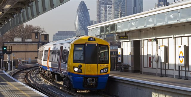 view showing front of train on East London Line
