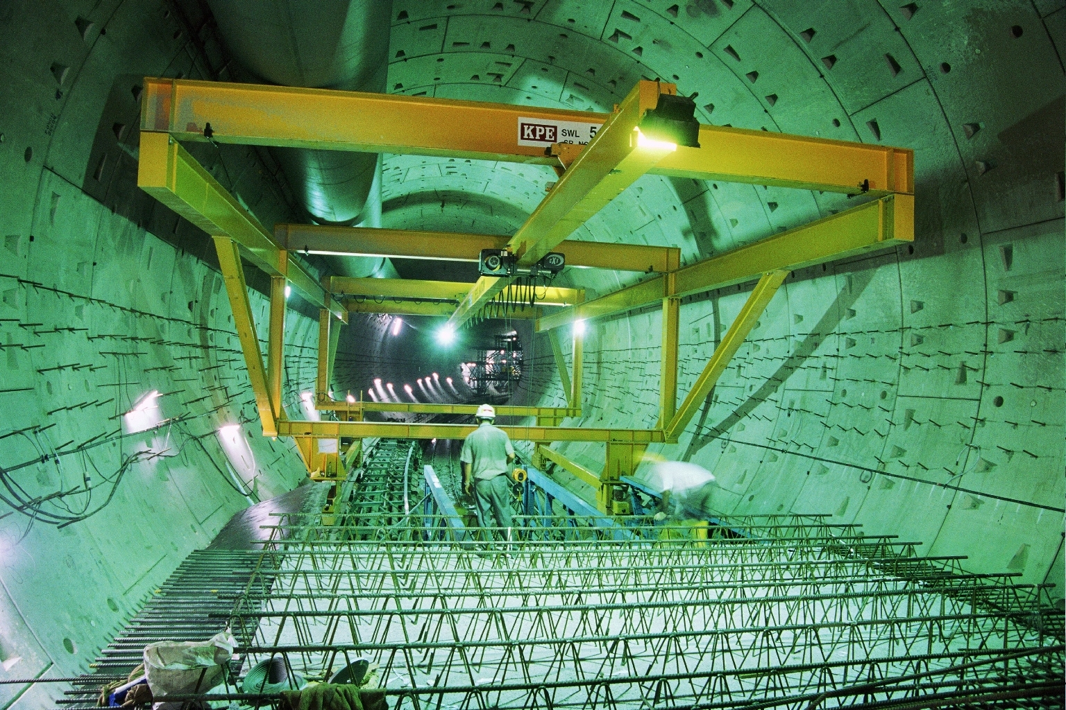 internal view of tunnel lining under construction
