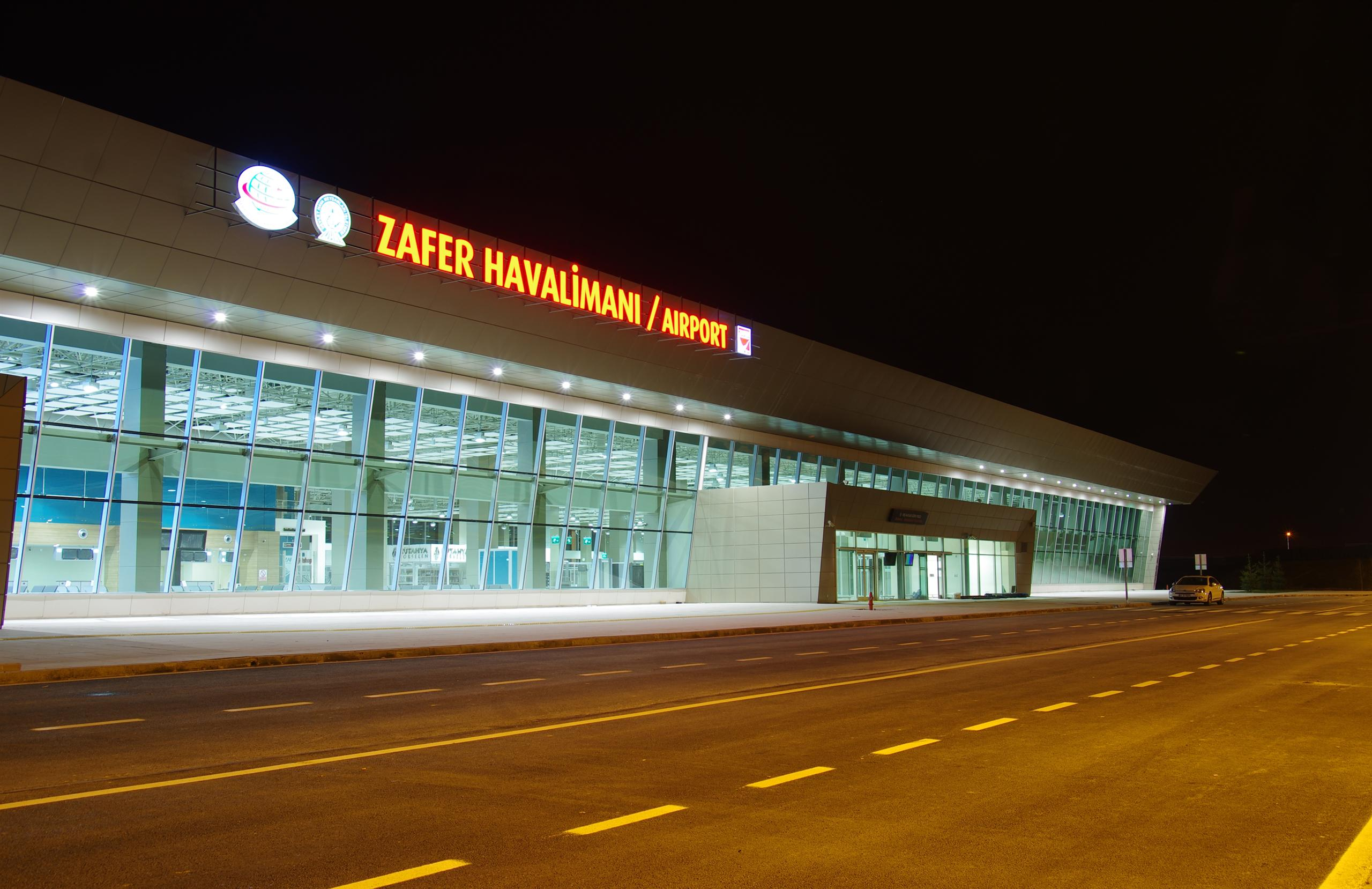 External view of airport terminal building