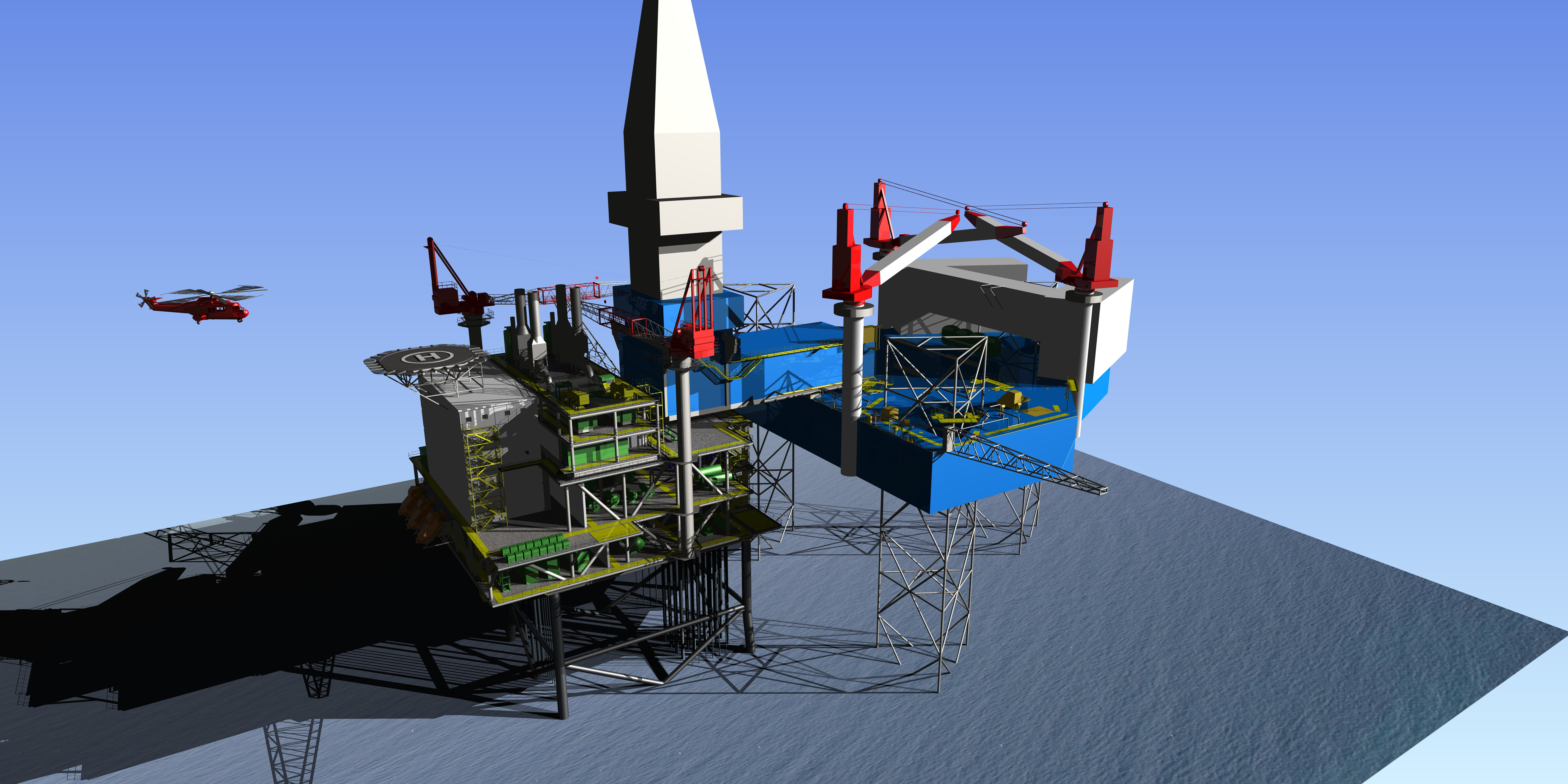 3D model of oil facility