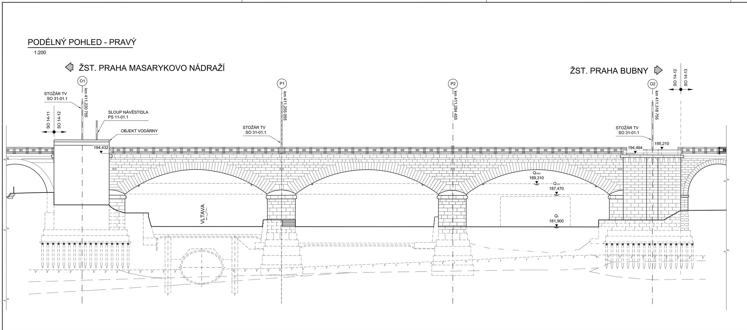 Detailed drawing of the viaduct