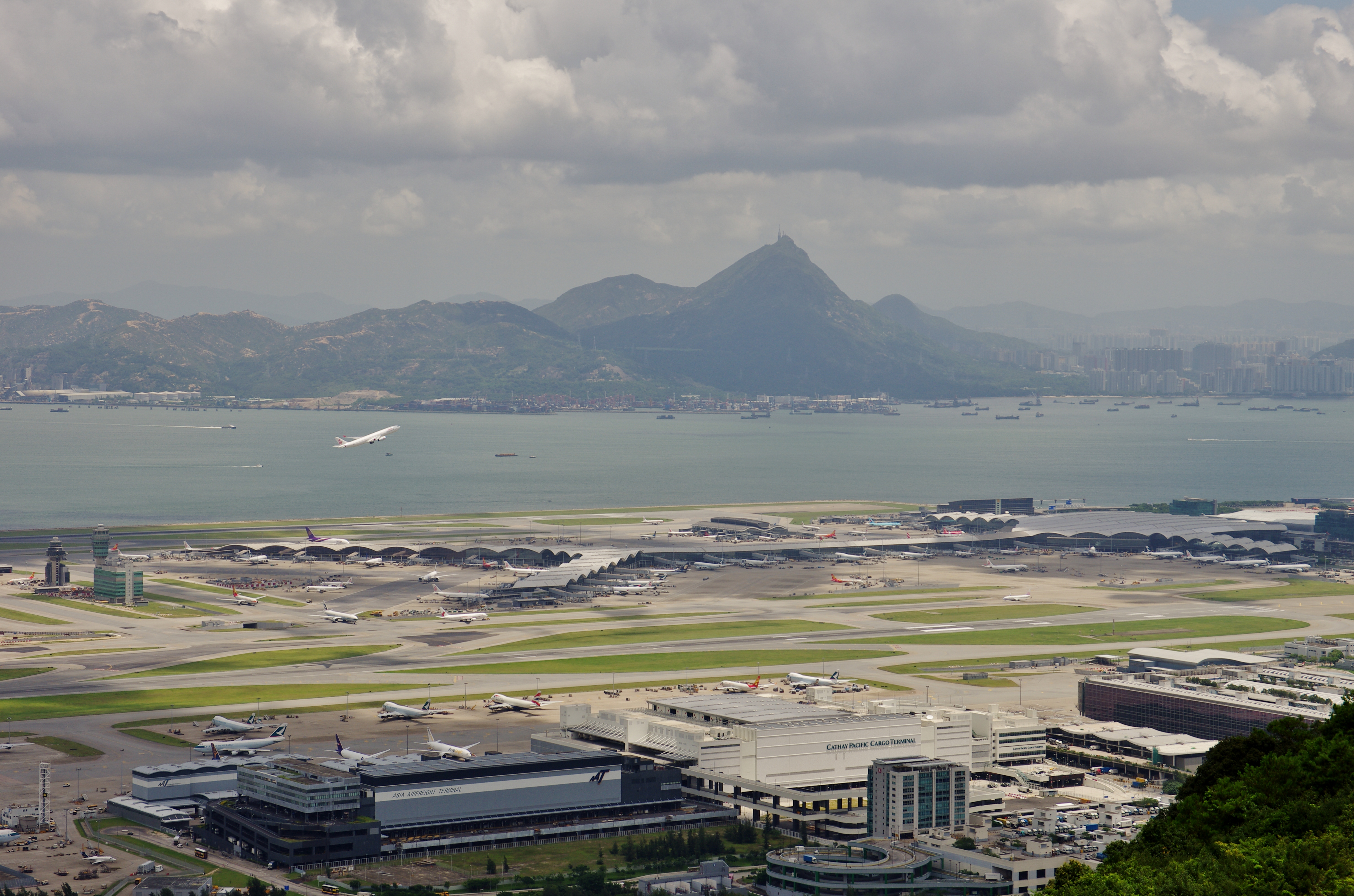 View of Hong Kong Airport