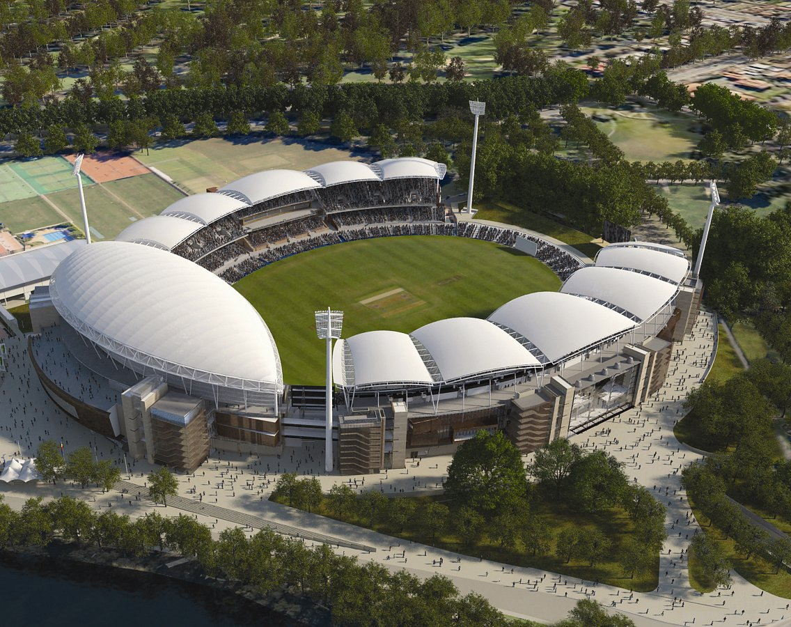 image showing aerial view of redeveloped stadium complex