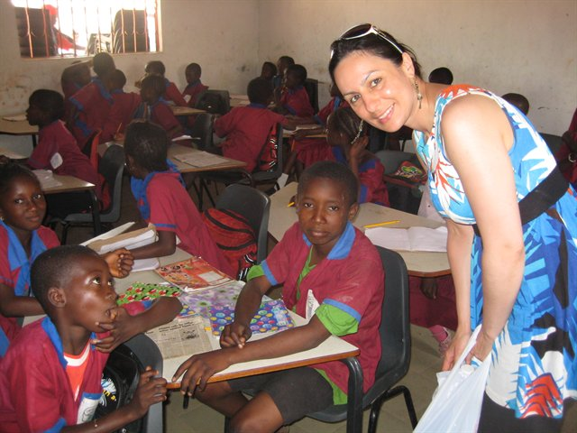 A trip to Gambia where I visited the local school children