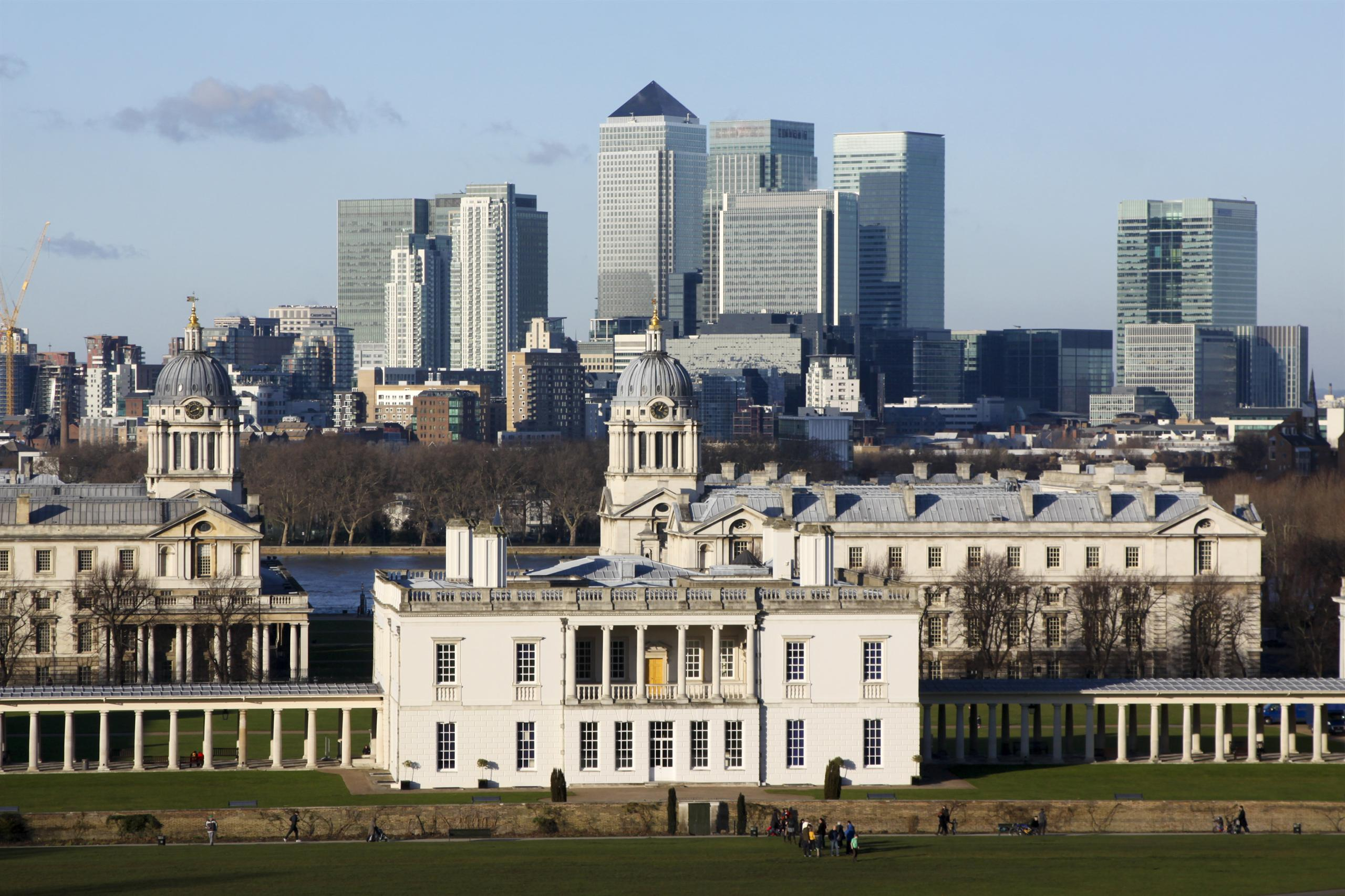 View of the museum and London skyline