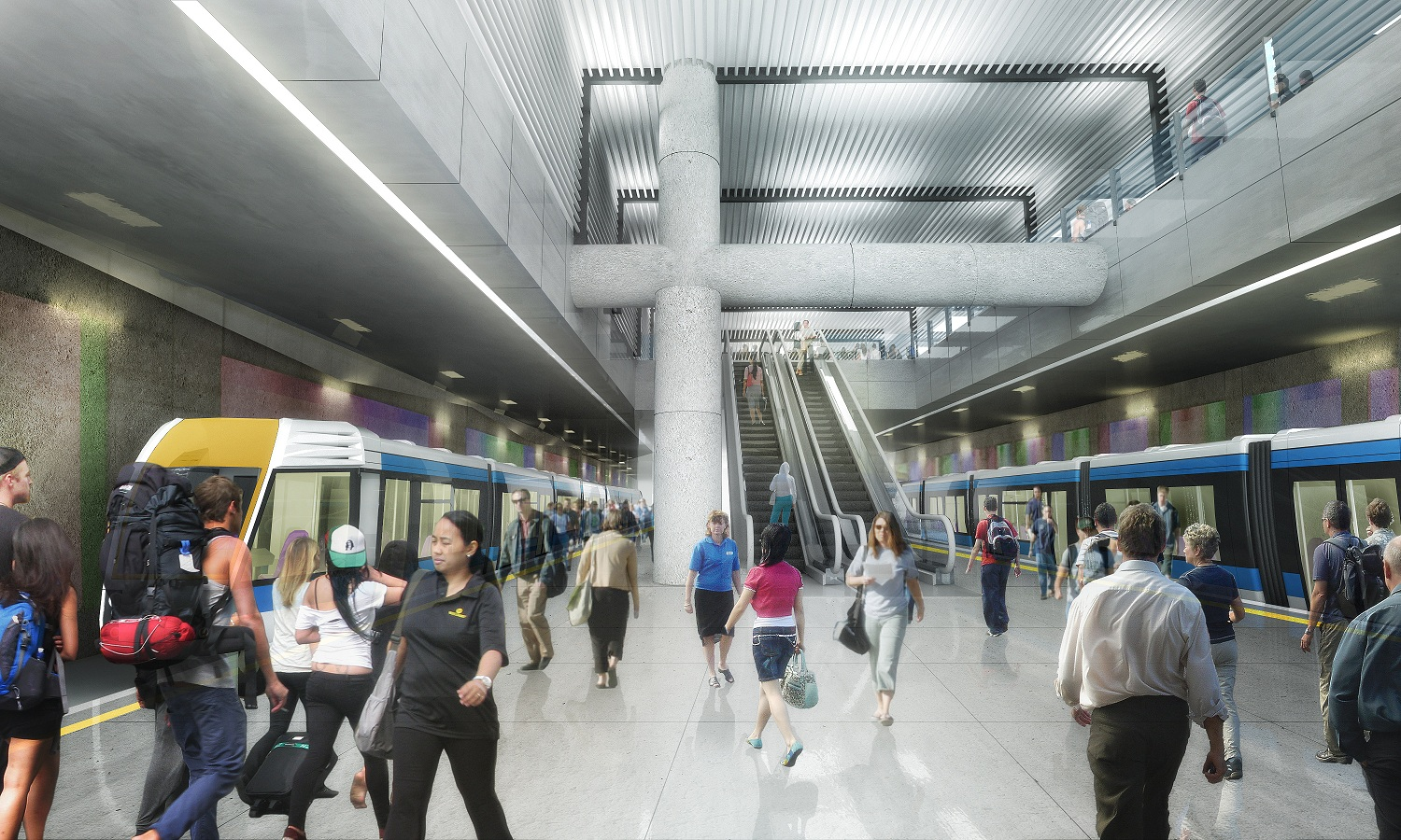Visualisation of underground station