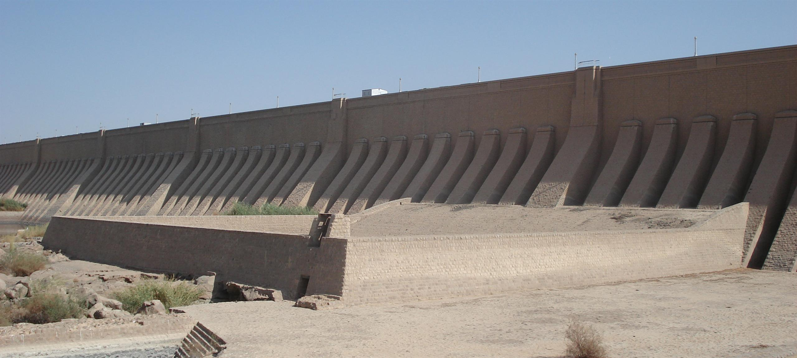 The original Aswan Dam in Egypt