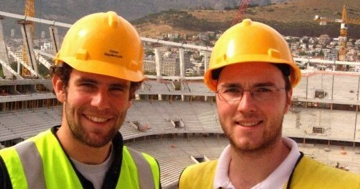 James Dodds (Graduate Renewables Energy Engineer) on site on site in Cape Town.