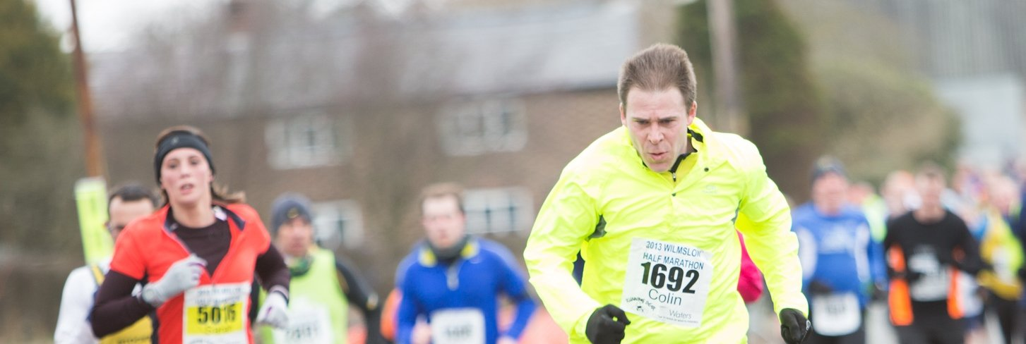 Colin Robinson (Programme Development Manager) completing the Wilmslow Half Marathon.