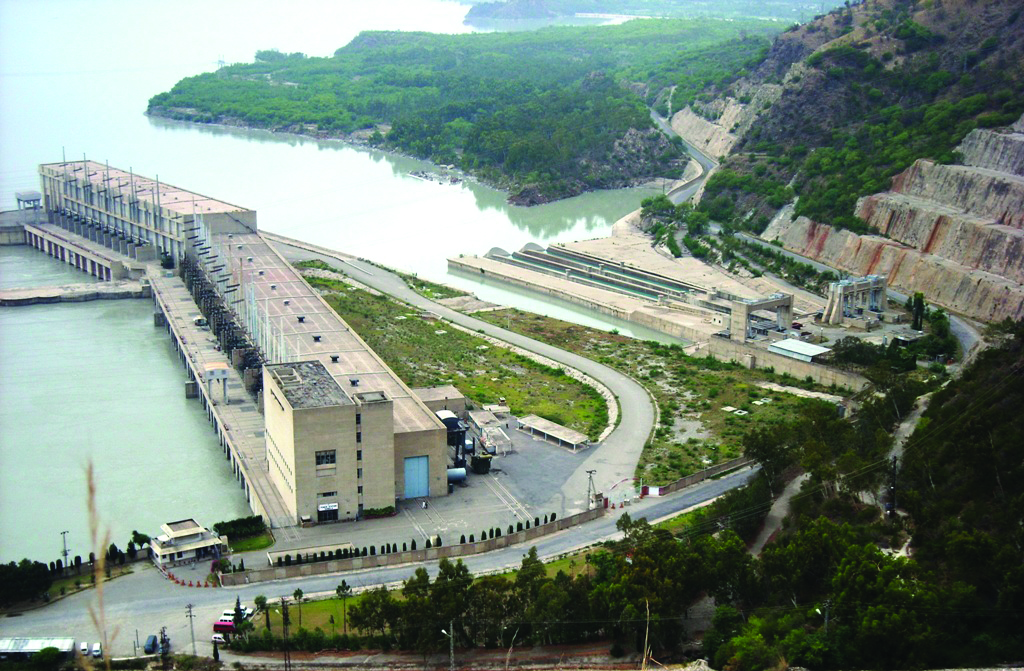 View of the dam construction