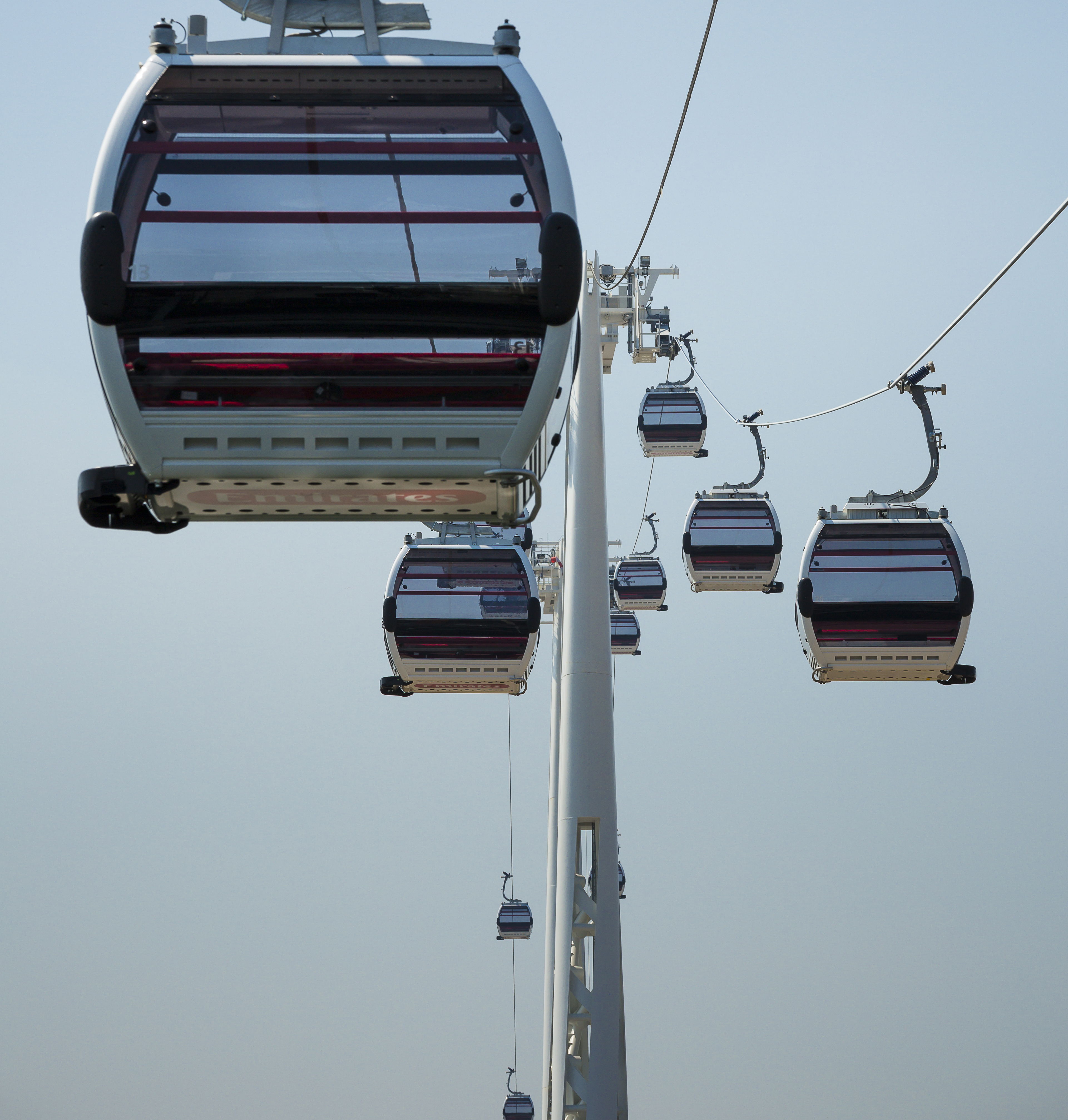 Cable Cars on traveling on route.