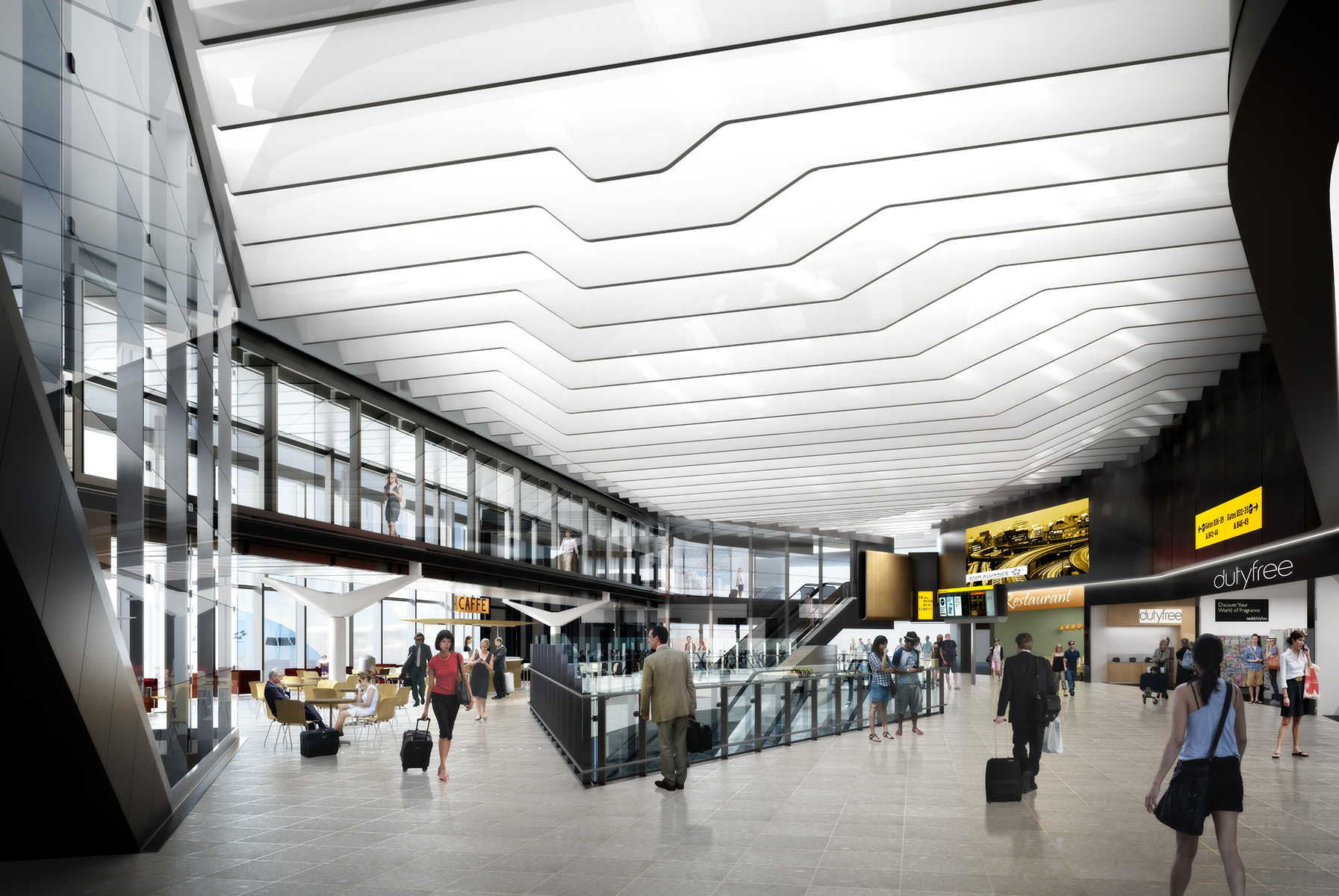 artist's impression of terminal interior