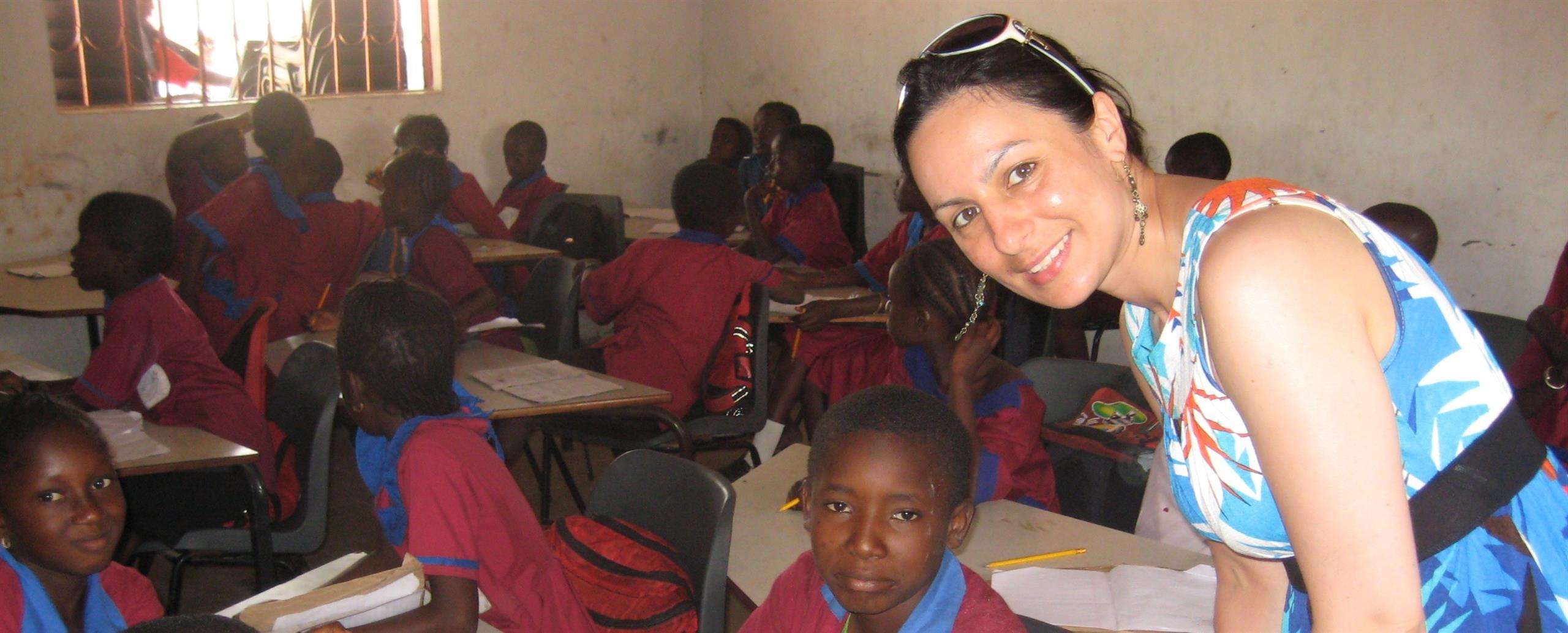 A trip to Gambia where Samia visited the local school children