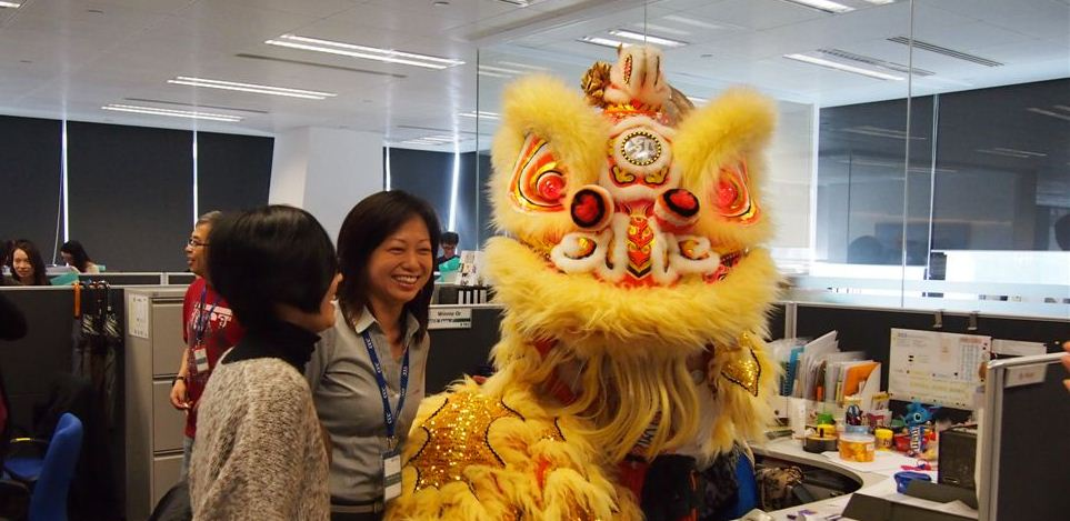 Lion dance at our Hong Kong office