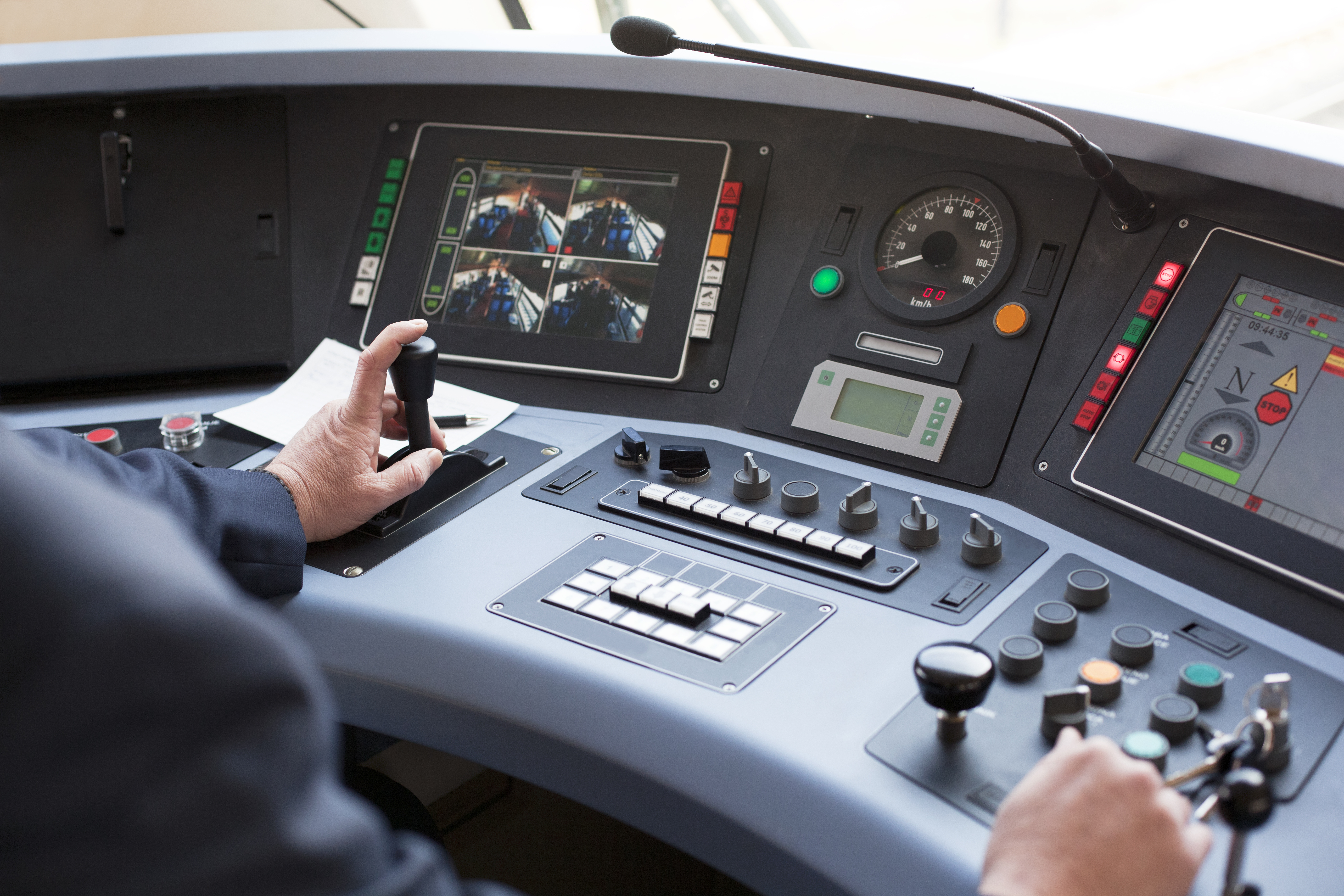 image showing train driver's console