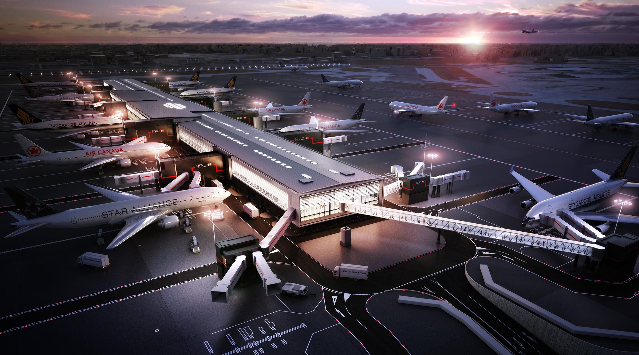 Visualisation of airport terminal