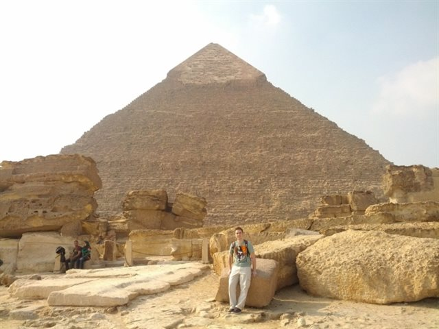 Neill on his first overseas mission with Mott MacDonald to Egypt