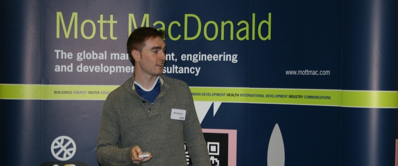 Neill (Graduate Engineer) presenting at the UK Graduate weekend