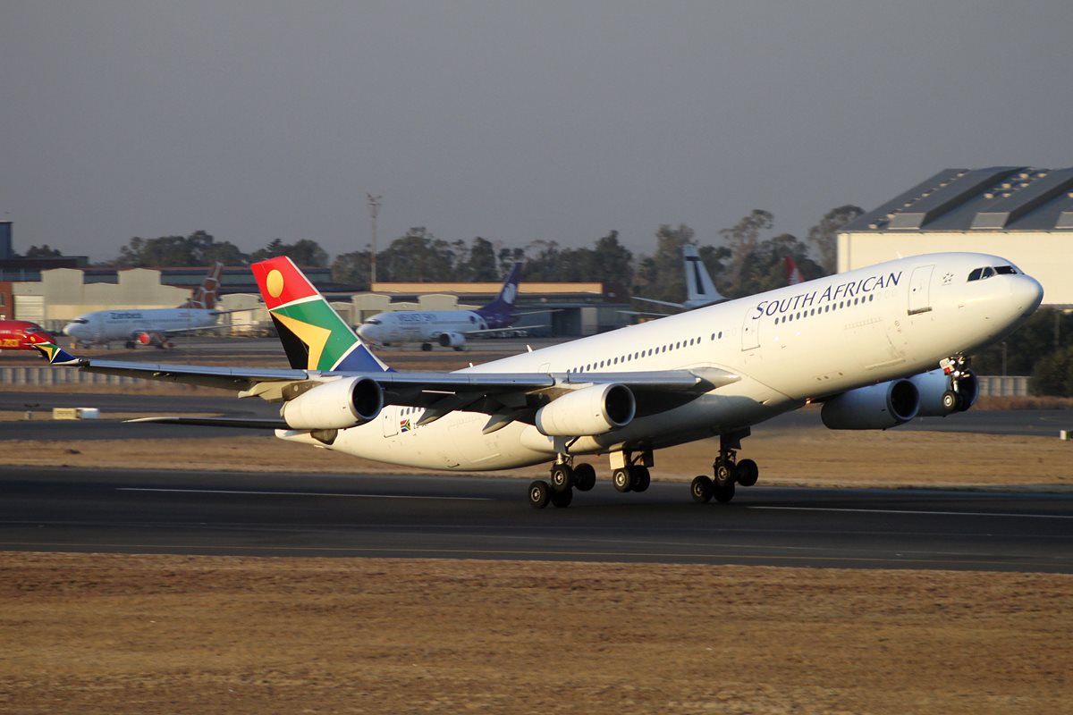 SAA airplane ready to lift off