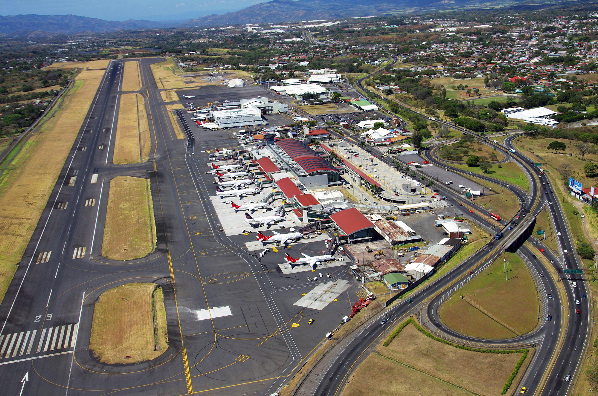 Arial view of Juan Santamaria International Airport