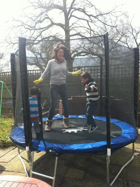 Lucy enjoys spending time with her children and jumping on the trampoline (in between doing the household chores)