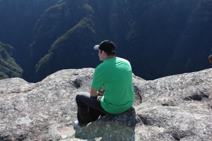 Simon enjoying the Blue Mountains in Australia.