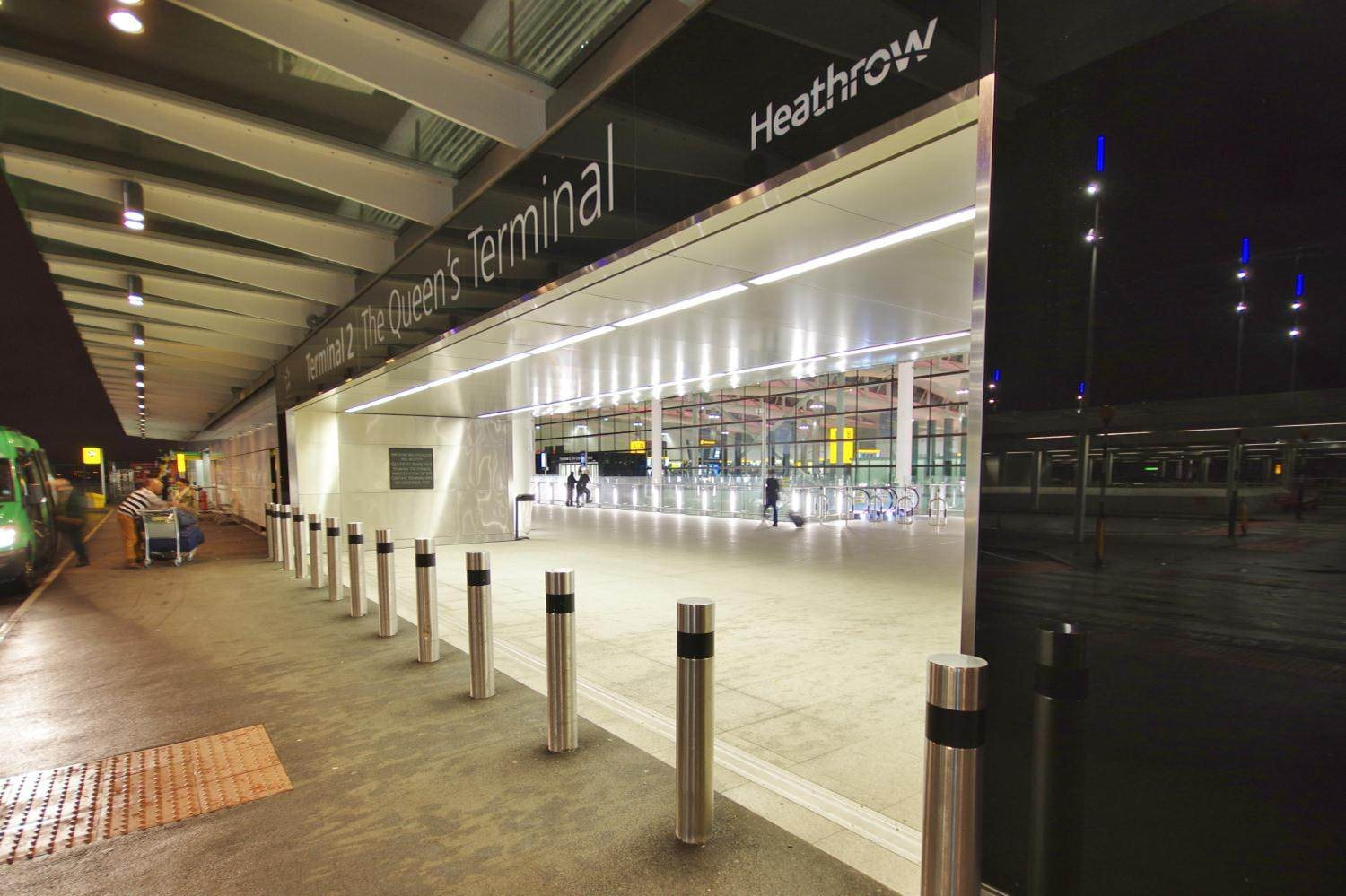 External view of Terminal 2 at Heathrow Airport