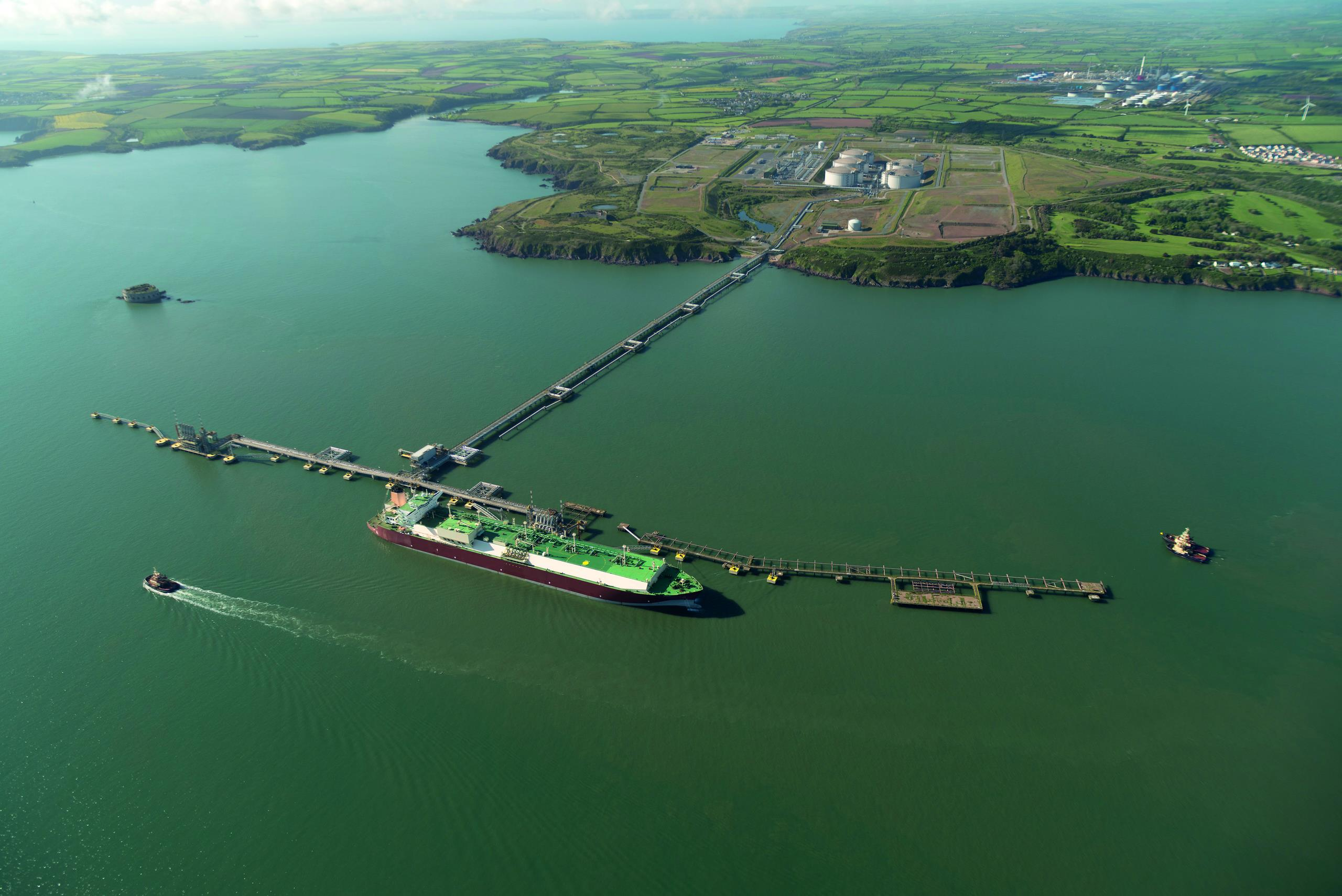 Ariel view of the LNG terminal