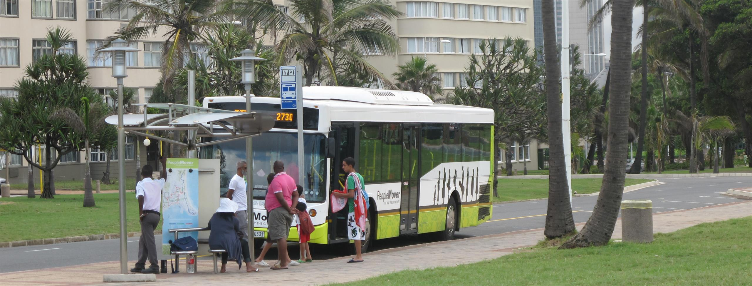 South Africa's National Department of Transport has developed an integrated rapid public transport network (IRPTN) to provide a safe, affordable and seamless transport experience for the eThekwini community of KwaZulu-Natal, South Africa. Commuter rail, b