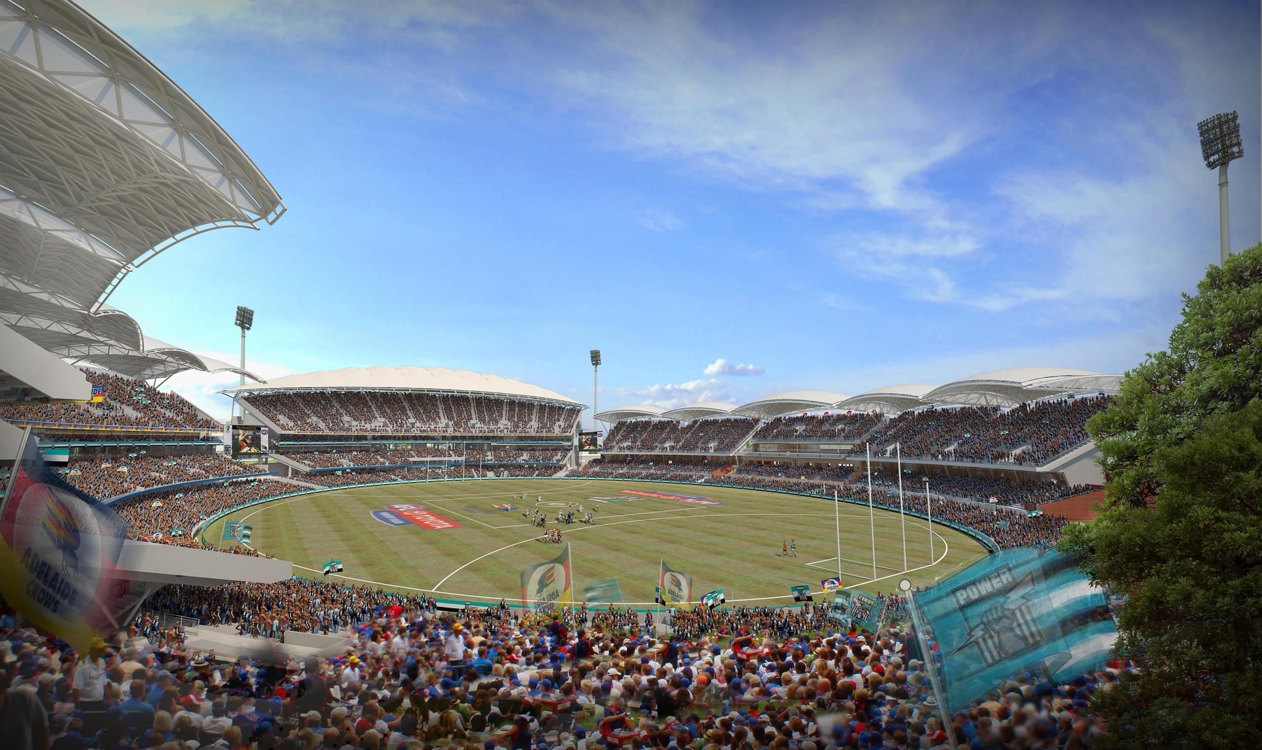 One of the world�s most picturesque sports grounds � is being redeveloped to create a world class 50,000 seat multi-sport stadium to re-energise recreational facilities within central Adelaide. Building on 25 years� experience of working at this unique ve