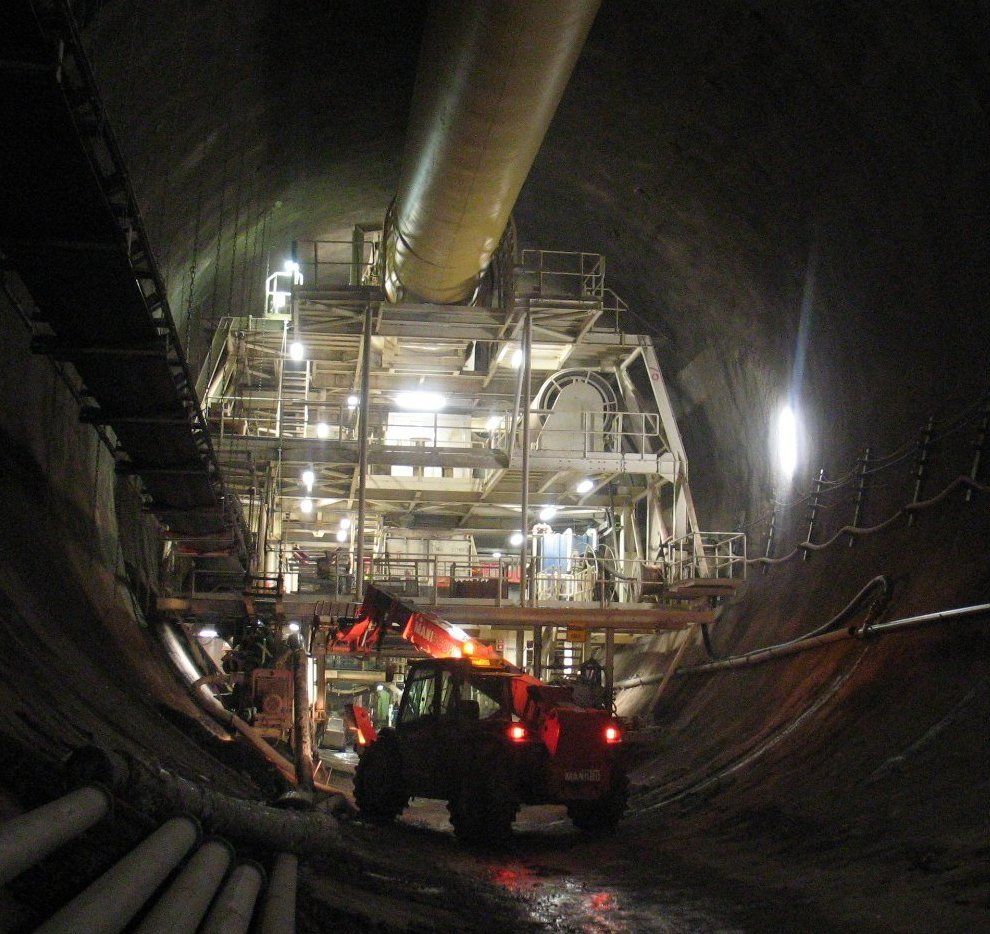 Construction within the tunnel
