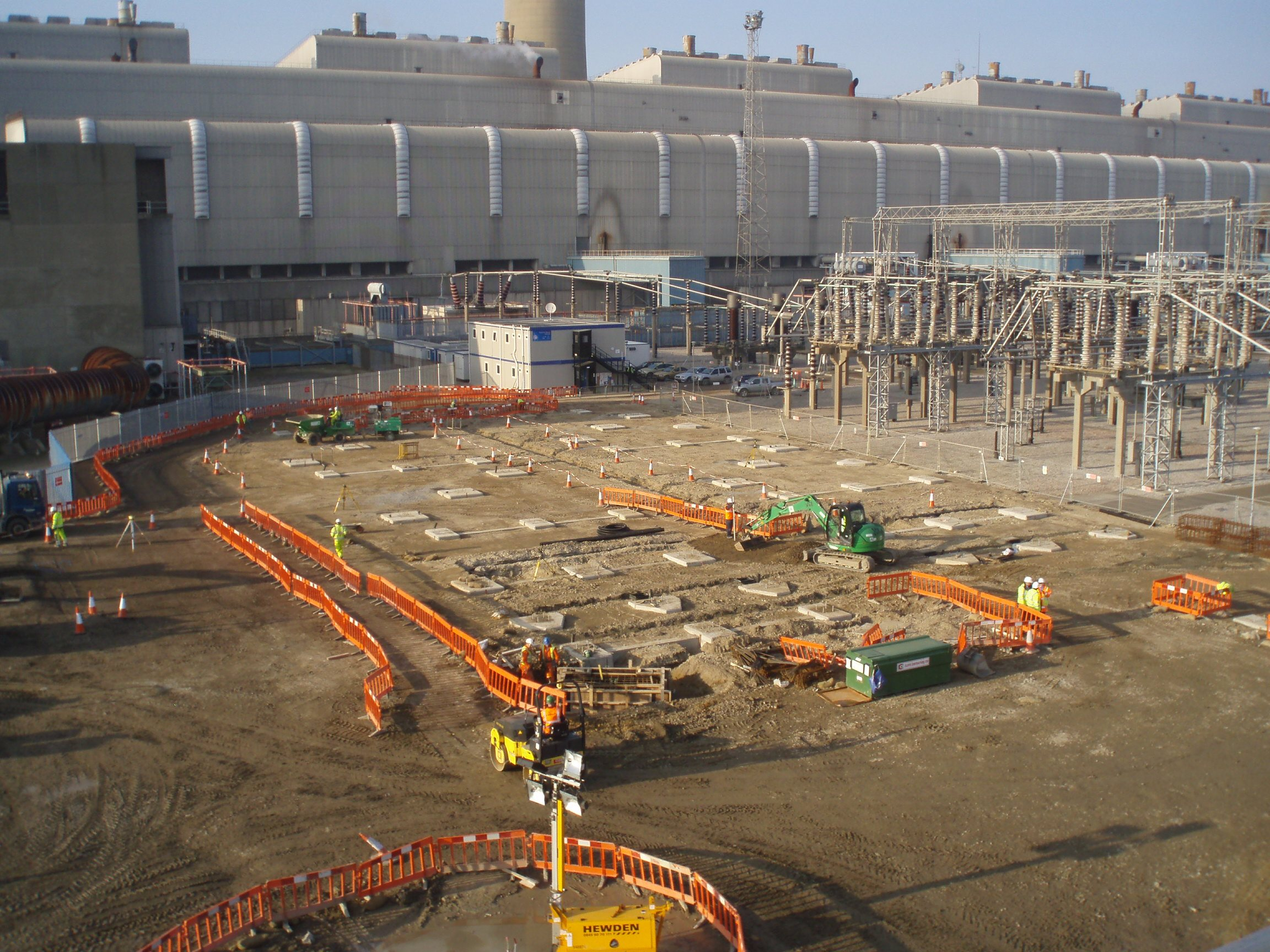 Early phase in the construction of the substation