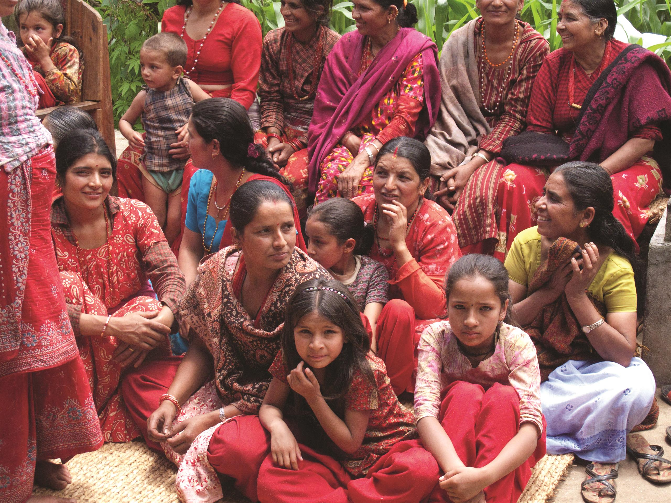 image of Nepalese women and girls seated at gathering