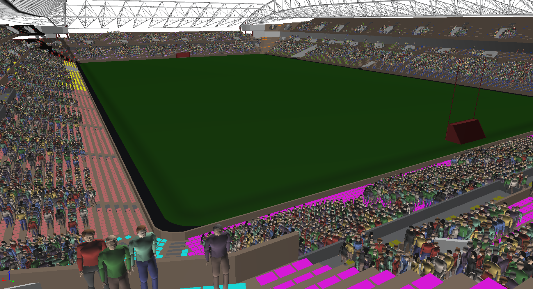 Casement Park Stadia in STEPS from a BIM import