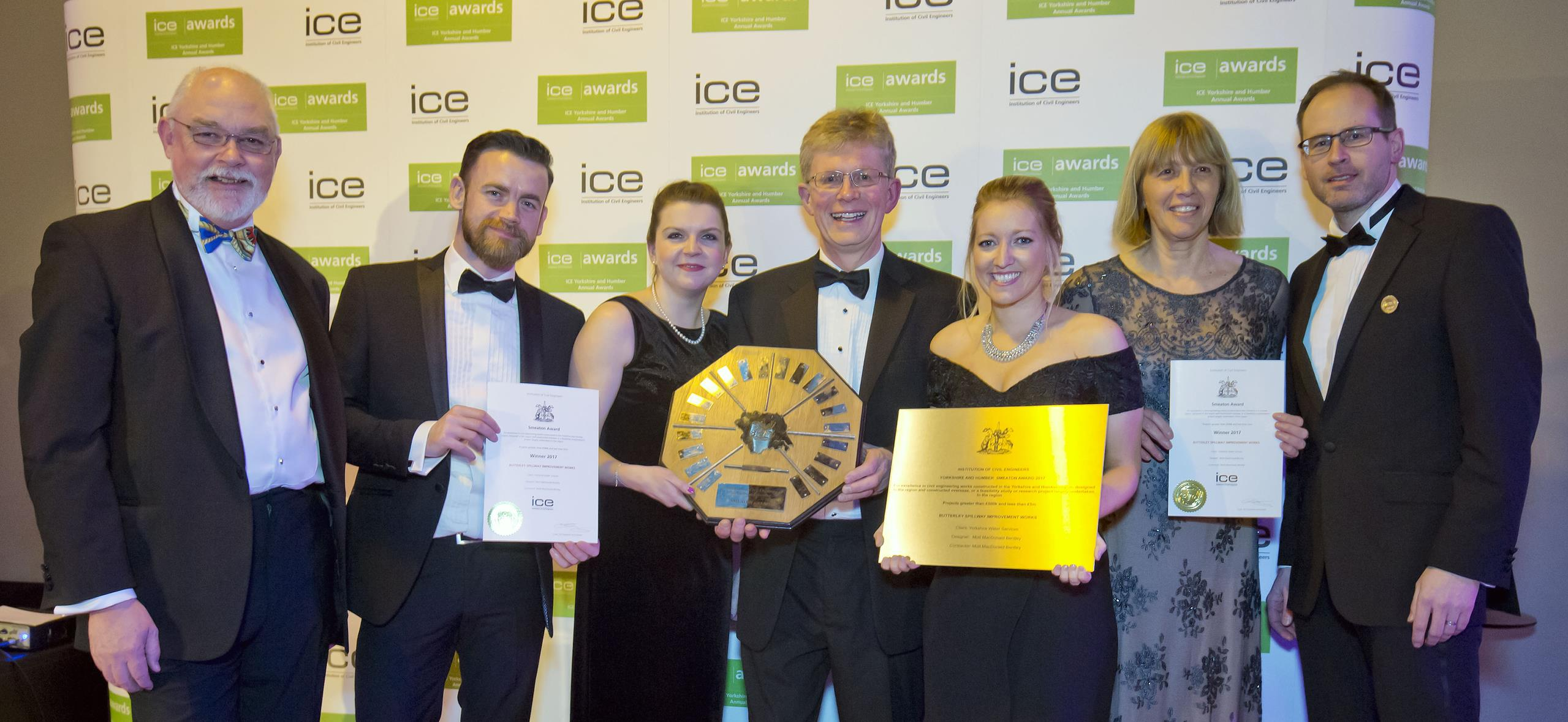 Mott MacDonald Bentley (MMB) was named winner of the prestigious Smeaton Award by the ICE in Yorkshire & Humber for the sympathetic refurbishment of Butterley Spillway