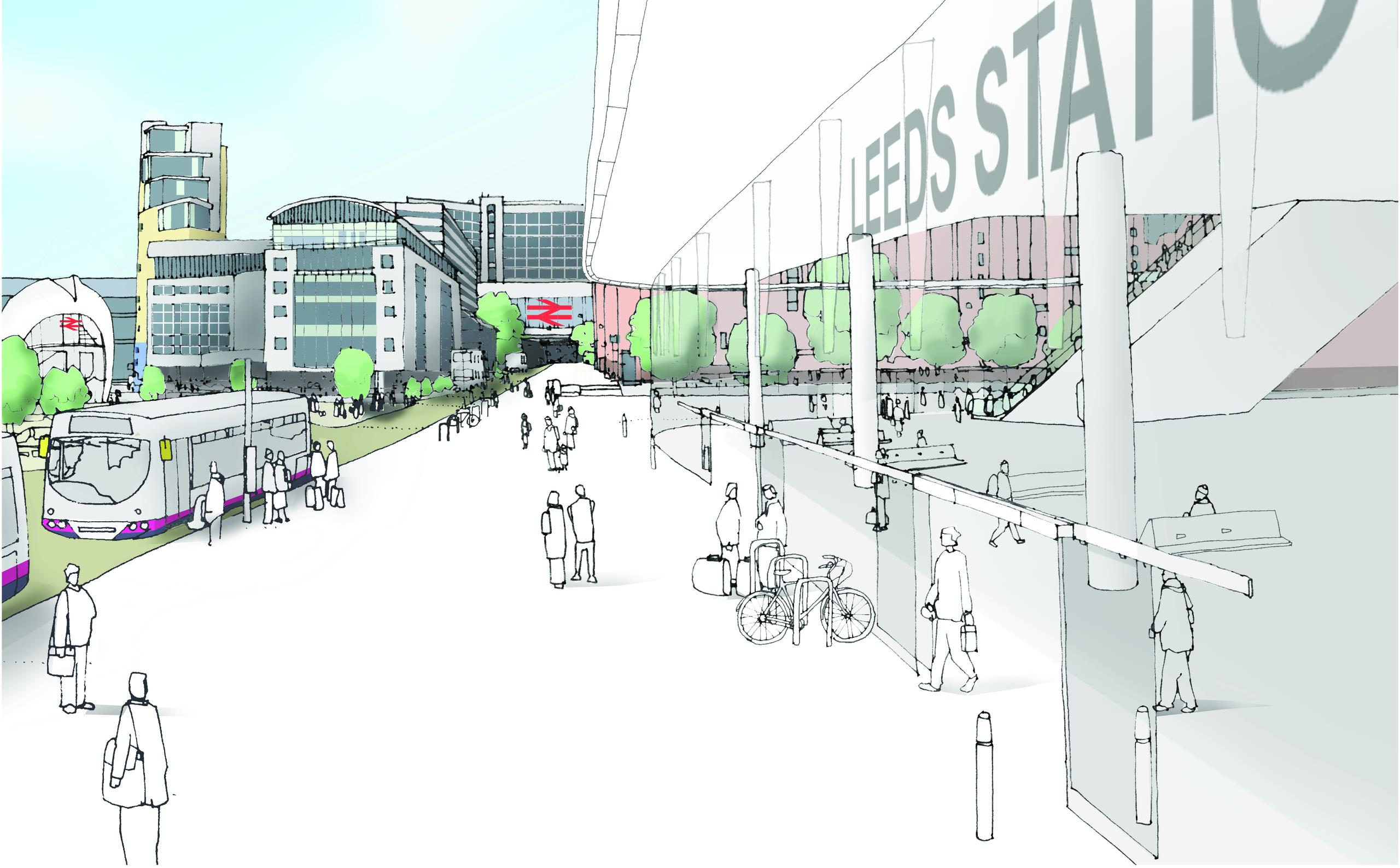 Design of Leeds Station once HS2 has been completed