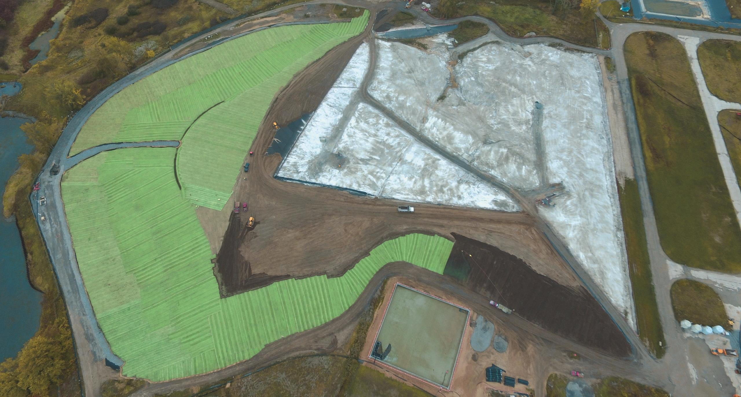 Aerial view of the General Motors (GM) Powertrain Plant site