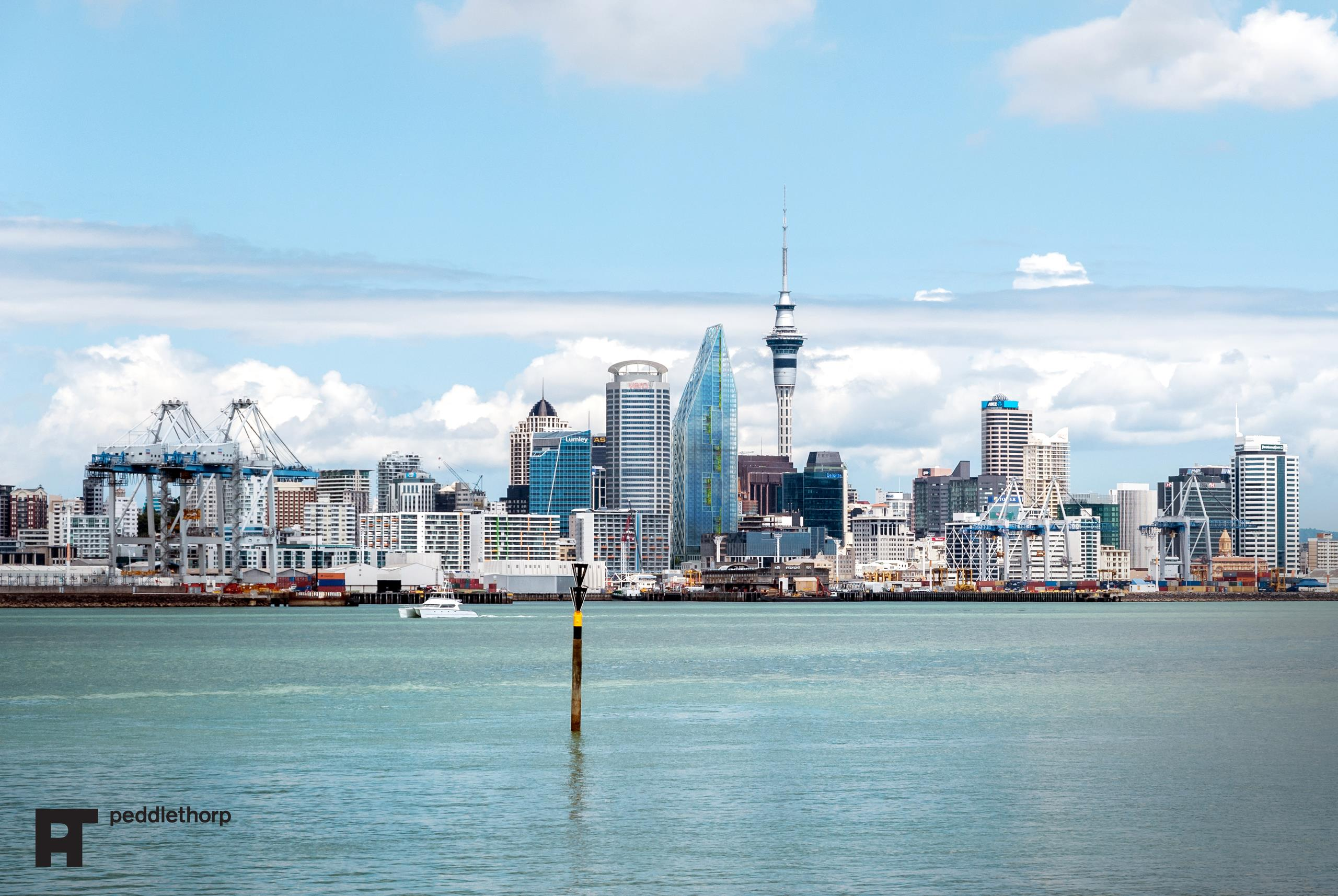 Peddlethorp's artist impression of what Auckland's skyline will look like once the Seascape tower is complete.
