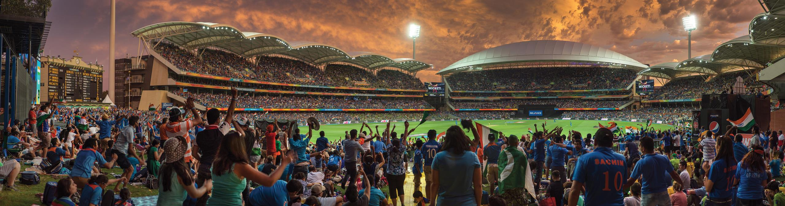 Spectators at Adelaide Oval