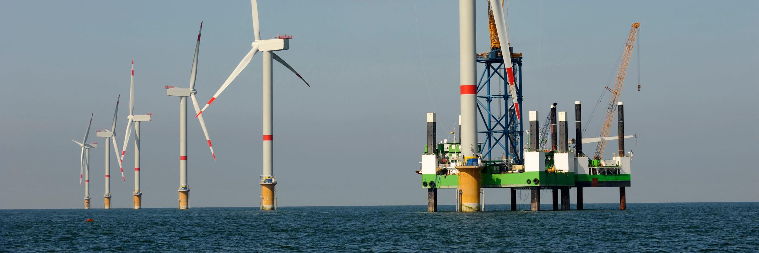 Wind turbines as part of an offshore wind farm
